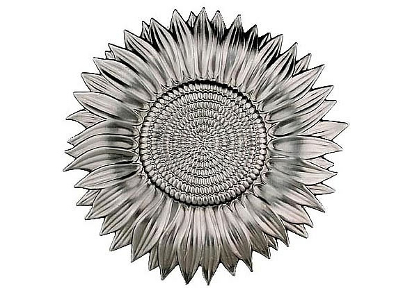 FL-11538 Stamped Steel Sunflower 5-1/4""
