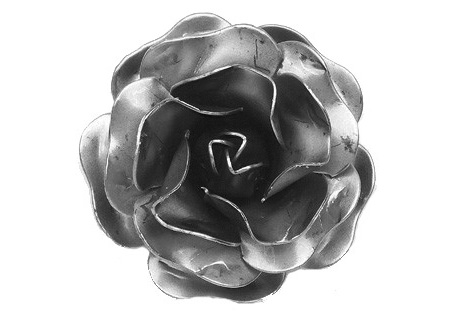 FL-12462 Stamped Steel Rose 2-1/4""
