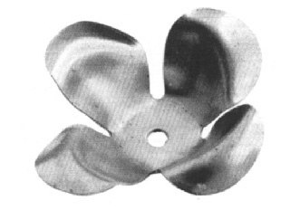 "FL136-9 Stamped Steel Flower 1-7/8"" Diameter"