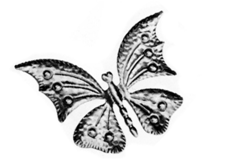 "DE137-10 Stamped Steel Butterfly 6-7/8"" x 5"""