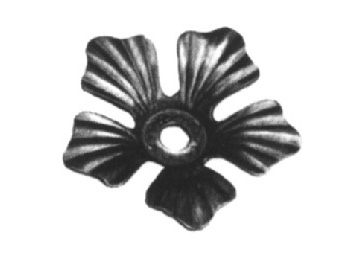 "FL138-3 Stamped Steel Flower 3-15/32"" Diameter"
