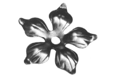 FL138-4 Stamped Steel Flower 3-9/16""