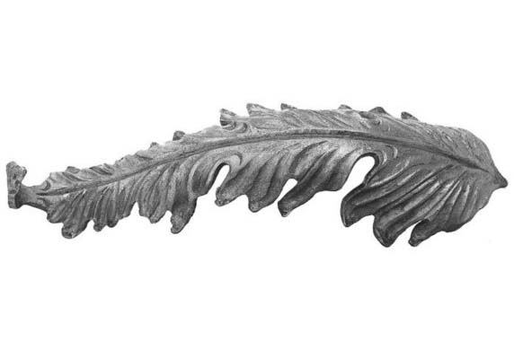 LV692-8 Forged Ornamental Iron Acanthus Leaf 13""