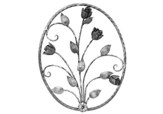 "PA720-1 Oval Rose Panel 26-3/8""H"