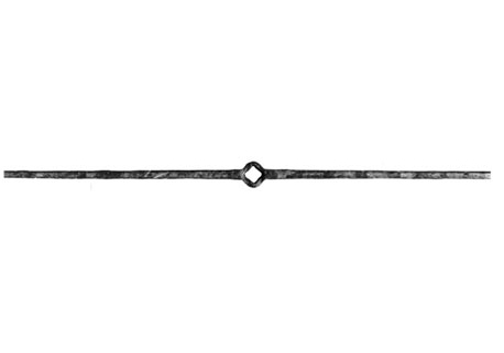 "PK101-2 Hammered Square Bar Picket 39-3/8""L"