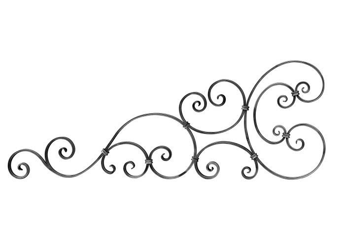"SC1281-2 Gate Topper Scroll 48-1/4""L"