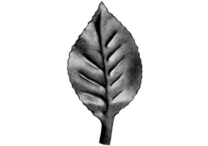 "LV140-3 Rose Leaf 3-1/8""H"