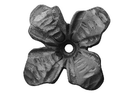 FL695-2 Forged Flower 3-22/32""