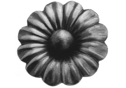 FL697-3 Heavy Gauge Flower 3-3/4""