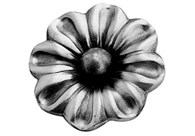 FL697-4 Heavy Gauge Flower 2-9/16""