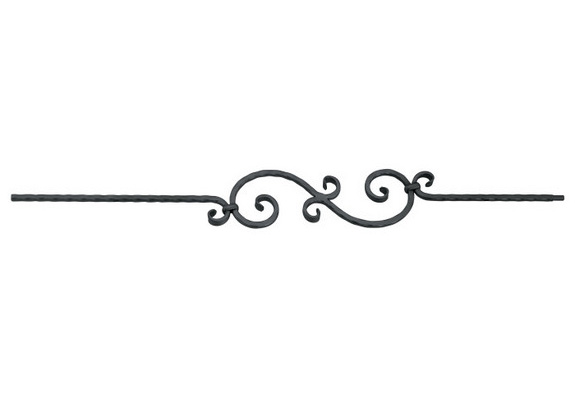 PC33-1DC Hammered Scroll Picket, Dark Champagne