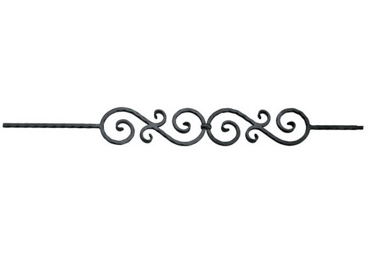 PC33-2DC Double Scroll Hammered Picket, Dark Champagne